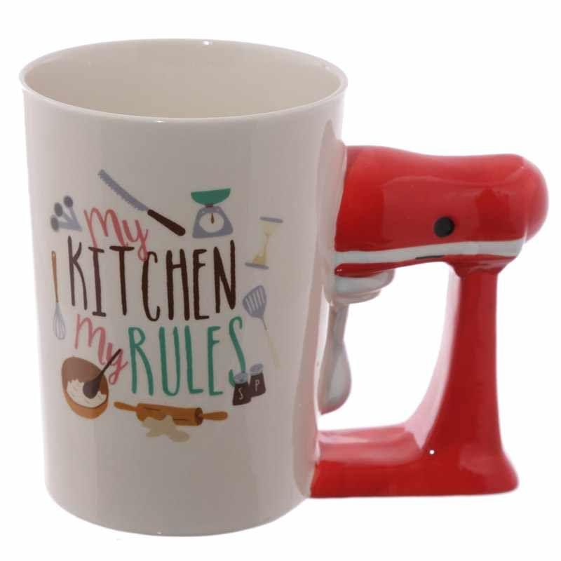 Kitchen Mixer Shaped Handle Mug